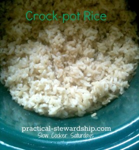 Crock-pot Rice