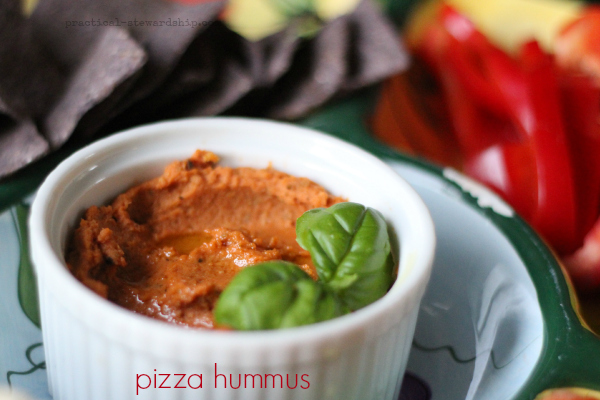 easy pizza hummus