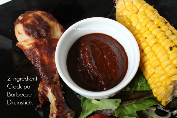 2 Ingredient Crock-pot Barbecue Drumsticks with BBQ Sauce