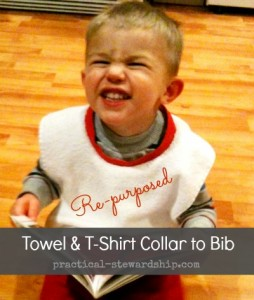 Re-purposed Towel & T-shirt Collar to Bib Tutorial