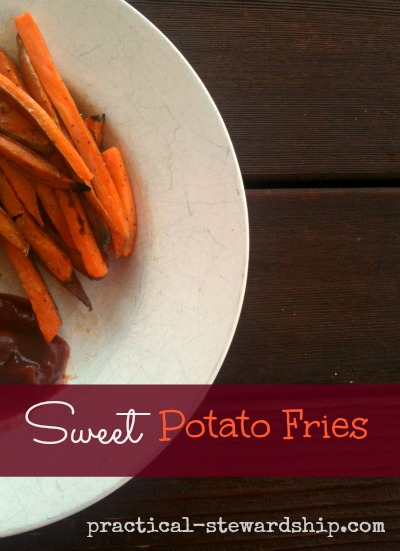 Sweet Potato Fries @ practical-stewardship.com