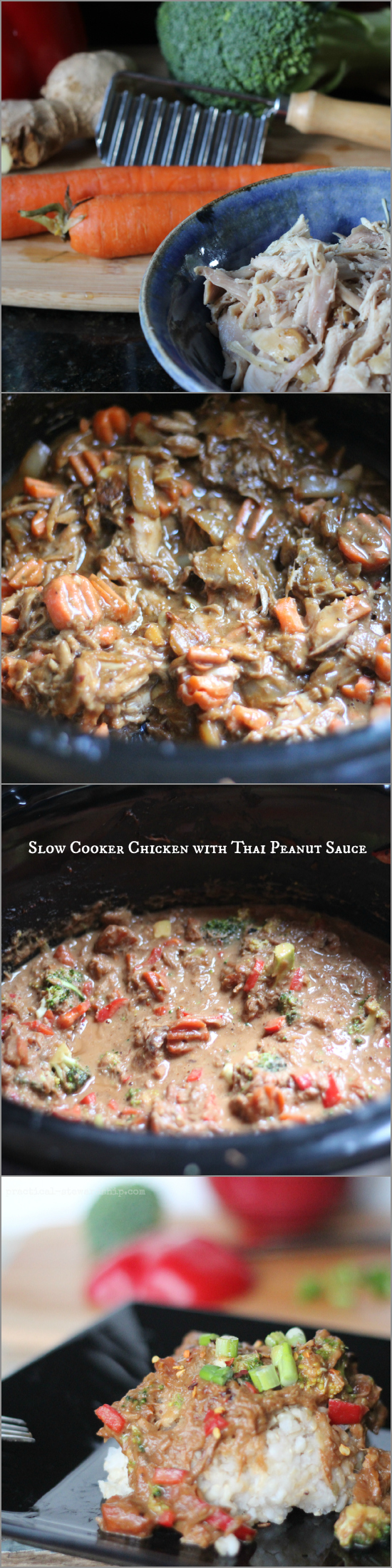 Crock-pot Chicken with Thai Peanut Sauce