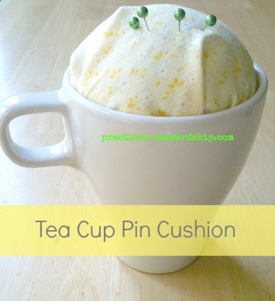Tea Cup Pin Cushion Tutorial