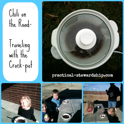 Chili on the Road-Traveling with the Crock-pot