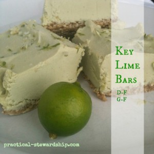 Key Lime Bars D-F, V, G-F