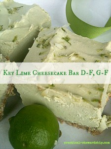 Key Lime Cheesecake Bar D-F, G-F