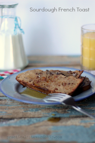 Sourdough French Toast, Dairy-free, Egg-free
