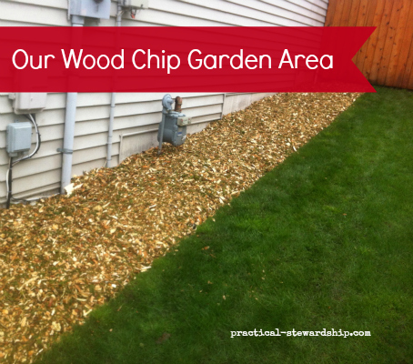 Wood Chip Garden Area