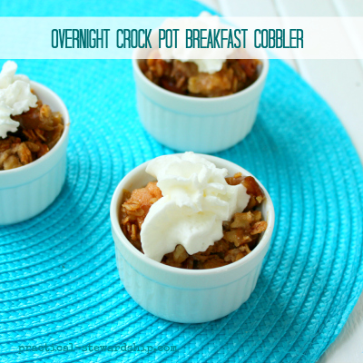Crock pot Breakfast Cobbler