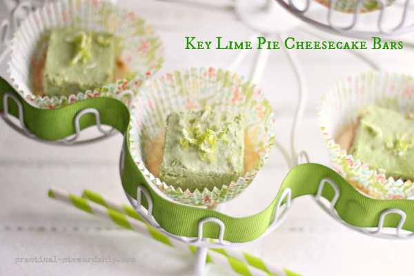 Key Lime Pie Cheesecake Bars, D-f, G-f