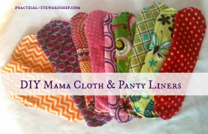 DIY Mama Cloth Panty Liners