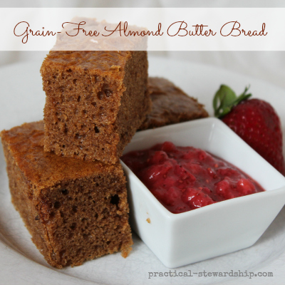 FAST Grain-Free Almond Butter Bread, G-F, Egg-Free Option