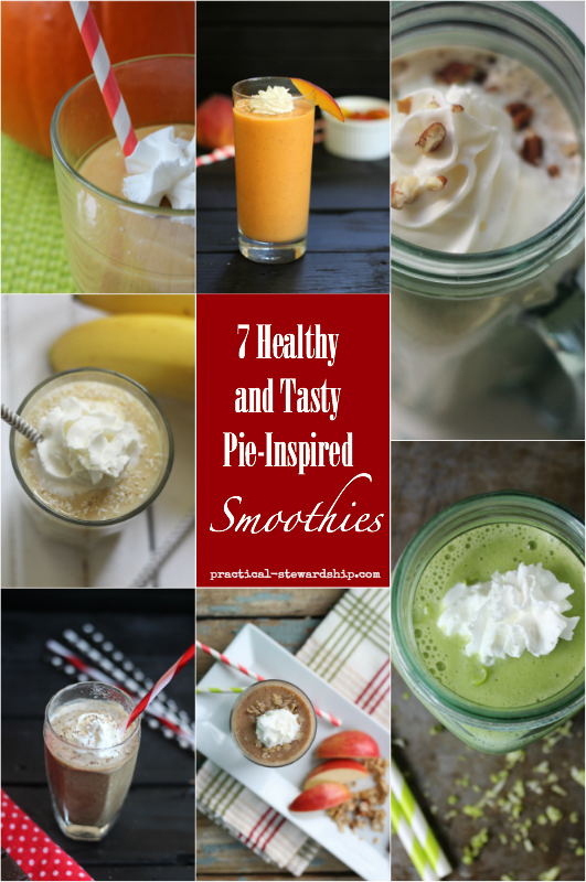 7 Pie-Inspired Smoothies Collage