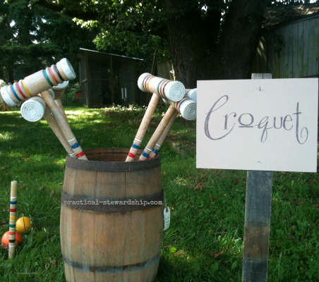 Croquet @ the Burlap Party