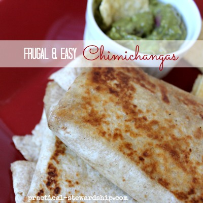 Frugal and Easy Chimichangas Vegan