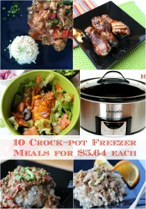 10 Crock-pot Freezer Meals for $5.64 each