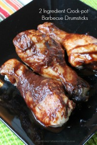 2 Ingredient Slow Cooker Barbecue Drumsticks
