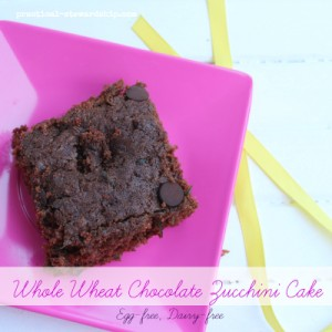 Egg-free Dairy-free Whole Wheat Zucchini Cake