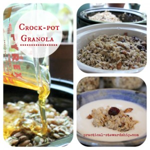 Honey Granola in the Crock-pot