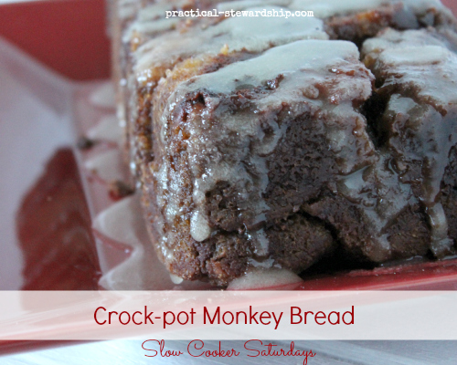 Overnight Crock-pot Monkey Bread with an Oven Baked Option