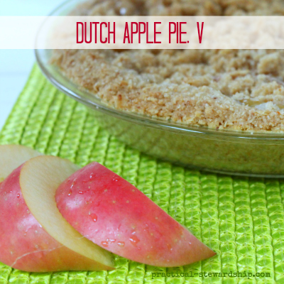 Dutch Apple Pie, V