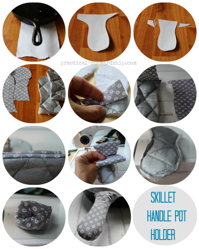 Skillet Handle Pot Holder Collage