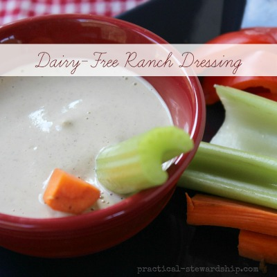 Easy Homemade Ranch Dressing, Dairy-Free, Vegan