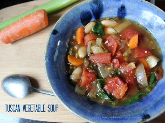 Slow Cooker Tuscan Vegetable Soup
