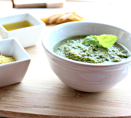Vegan Basil Garlic Pesto