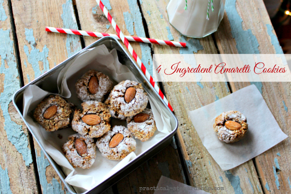 4 Ingredient Amaretti Cookies