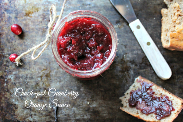 Easy Crock-pot Cranberry Orange Sauce