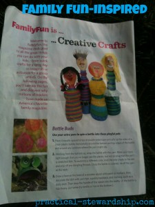 Family-fun Inspired Yarn-Wrapped Bottles