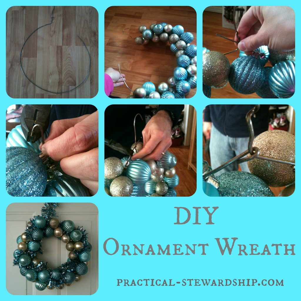 Ornament Wreath Collage @ practical-stewardship.com