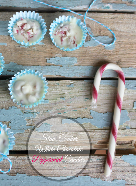 Slow Cooker White Chocolate Peppermint Candies