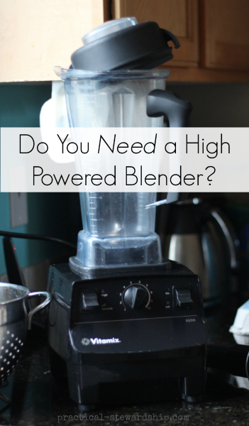 Do You Need a High Powered Blender