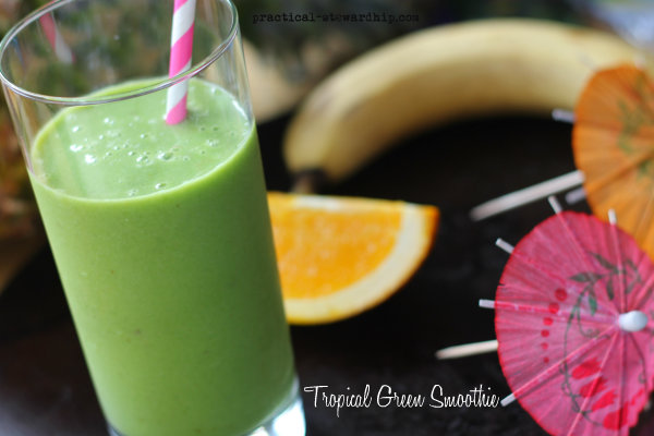 Tropical Green Smoothie, Dairy-free, Vegan