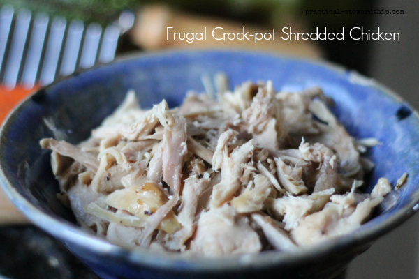 Frugal Crock-pot  Shredded Chicken