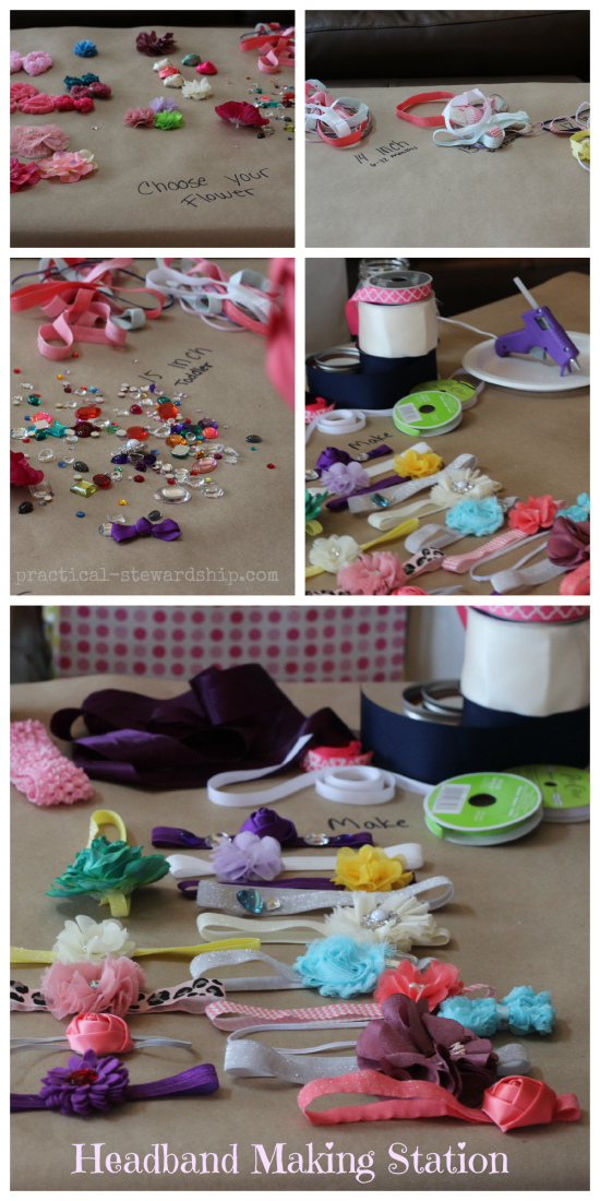 Headband Making Station Collage