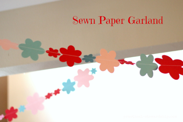 Sewn Paper Garland