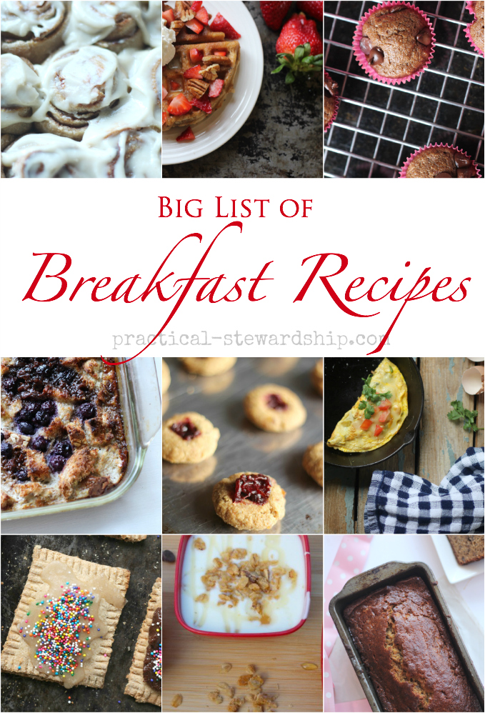 Big List of Brunch and Breakfast Recipes