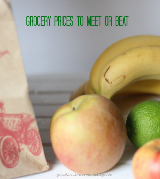 Grocery Prices to Meet or Beat