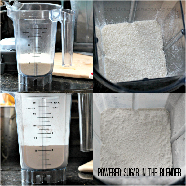 Powered Sugar in the Blender