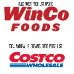 WinCo and Costco Price List Update