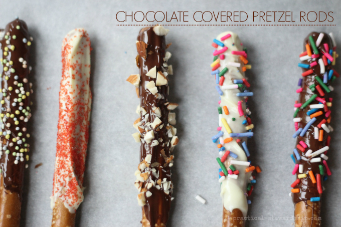 Crock-pot Chocolate Covered Pretzel Rods