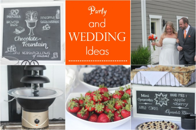 Entertaining, Party and Wedding Reception Ideas with Chalkboard Font