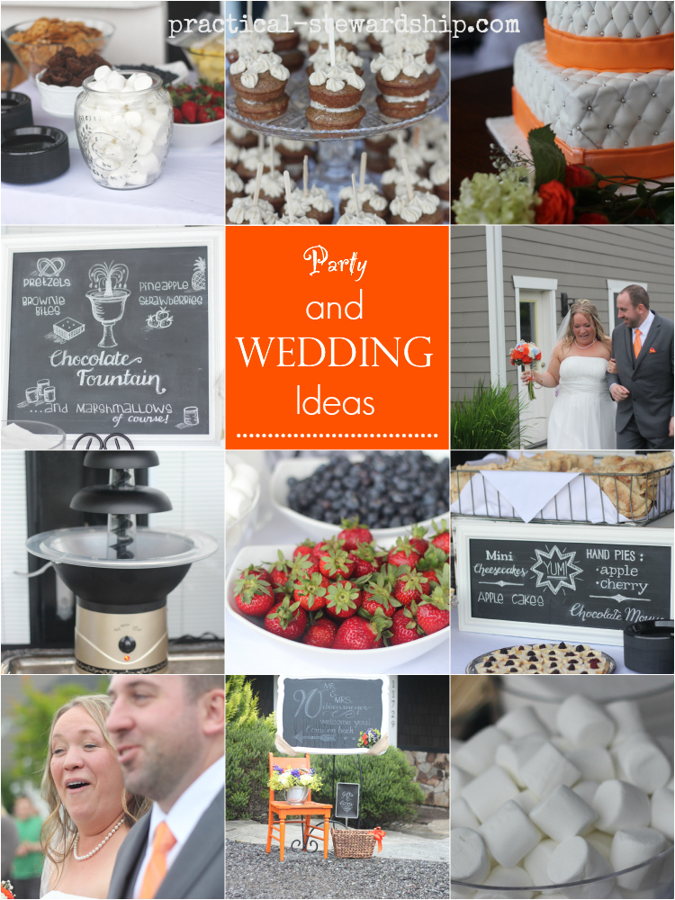 Party and Wedding Ideas with Chalkboard Font