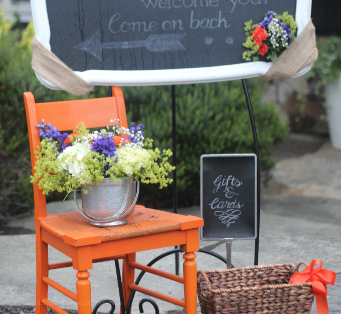 Wedding Welcome Chair