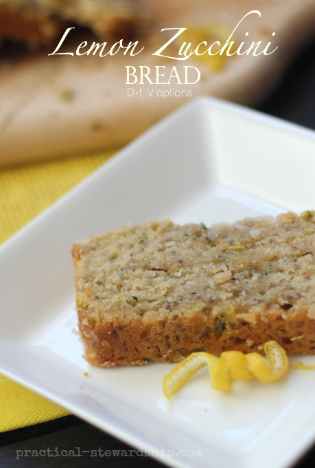 Lemon Zucchini  Bread D-f, V options