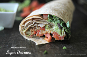 Meal on-the-Go Super Burritos