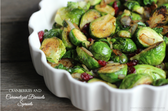 Cranberries and Caramelized Brussels Sprouts
